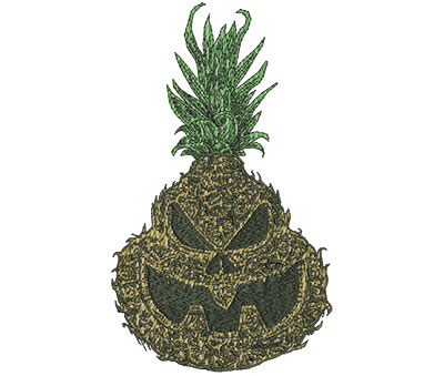 Embroidery Design: Jackolantern Pineapple Realistic Med 4.78w X 8.00h
