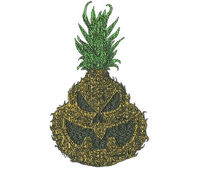 Embroidery Design: Jackolantern Pineapple Realistic Sm 4.18w X 7.00h