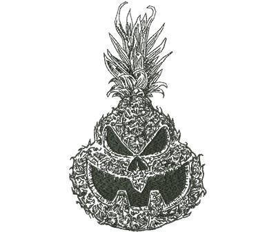 Embroidery Design: Jackolantern Pineapple Outline Lg 5.37w X 9.00h