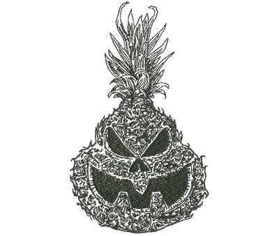 Embroidery Design: Jackolantern Pineapple Outline Med 4.78w X 8.00h
