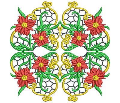 Embroidery Design: Jacobean Block 1 6.99w X 7.02h