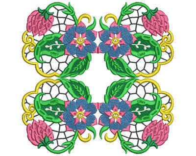 Embroidery Design: Jacobean Block 2 7.04w X 7.02h