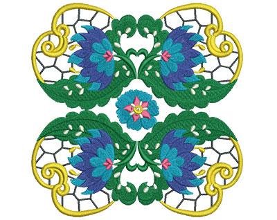 Embroidery Design: Jacobean Block 5 6.92w X 7.02h