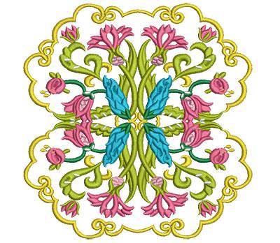 Embroidery Design: Jacobean Block 7 6.77w X 6.97h
