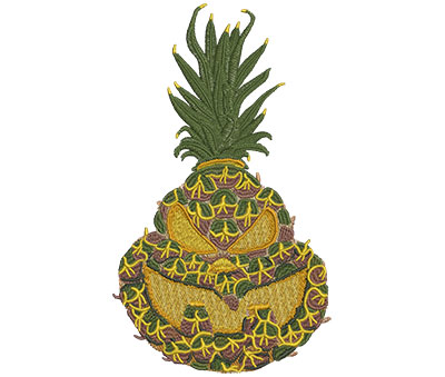 Embroidery Design: Jackolantern Pineapple Lg 4.73w X 8.01h