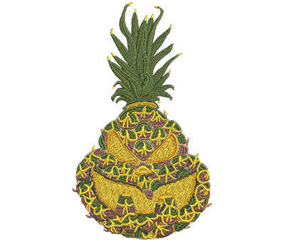 Embroidery Design: Jackolantern Pineapple Med 4.13w X 7.01h