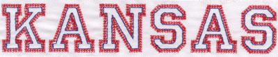 """Embroidery Design: Kansas Name1.46"""" x 7.98"""""""