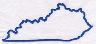 "Embroidery Design: Kentucky Outline2.67"" x 5.92"""