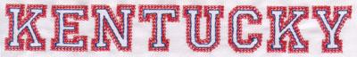 """Embroidery Design: Kentucky Name1.11"""" x 8.02"""""""