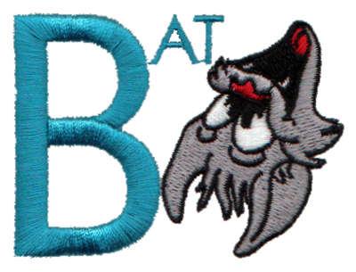 """Embroidery Design: Kiddie Alphabet B2.71"""" x 1.99"""""""