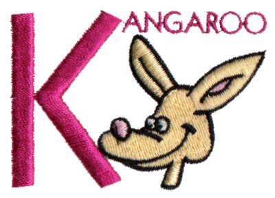 """Embroidery Design: Kiddie Alphabet K2.86"""" x 2.98"""""""