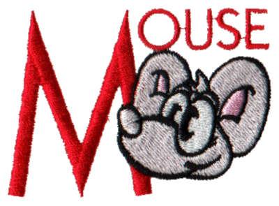 """Embroidery Design: Kiddie Alphabet M2.86"""" x 1.98"""""""