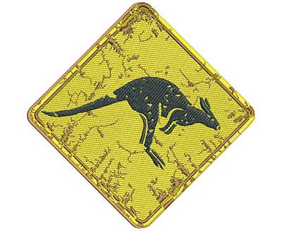 Embroidery Design: Kangaroo Sign Lg 5.02w X 4.98h