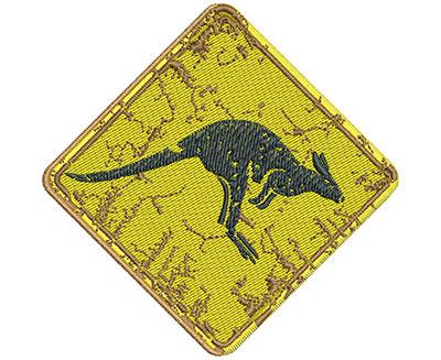Embroidery Design: Kangaroo Sign Sm 3.02w X 3.00h