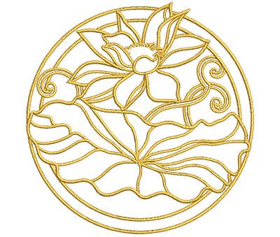 Embroidery Design: Lotus Art Embellishment 4 3.93w X 4.00h