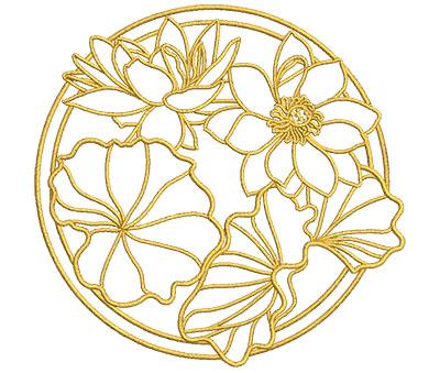 Embroidery Design: Lotus Art Embellishment 7 4.01w X 3.92h