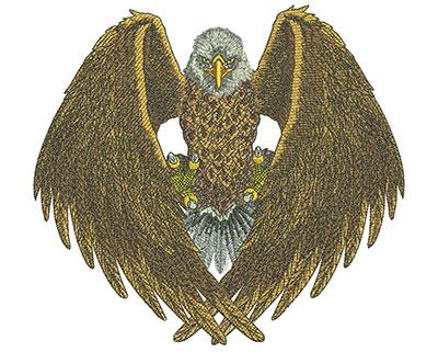 Embroidery Design: Eagle Pride Med<br> 7.55w X 6.91h