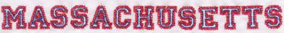 "Embroidery Design: Massachusettes Name0.72"" x 8.03"""