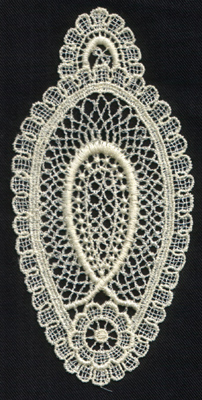 "Embroidery Design: Lace 2nd Ed. vol3 #13.09"" x 5.80"""