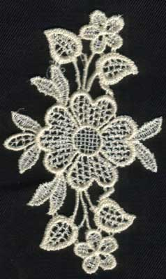 """Embroidery Design: Lace 2nd Ed. vol2 #52.30"""" x 3.91"""""""