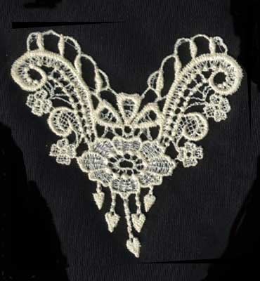 """Embroidery Design: Lace 2nd Ed. vol2 #74.12"""" x 4.30"""""""