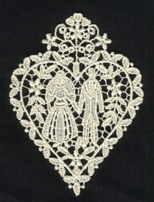 "Embroidery Design: Lace 2nd Ed. vol5 #33.12"" x 4.18"""