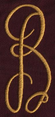 """Embroidery Design: FM Center B1.33"""" x 3.02"""""""
