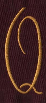 """Embroidery Design: FM Center Q1.34"""" x 3.01"""""""