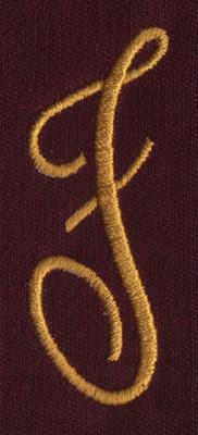 "Embroidery Design: FM Left F0.94"" x 2.46"""