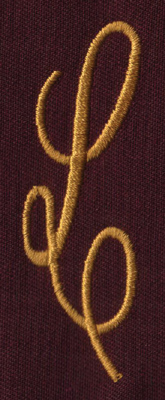 "Embroidery Design: FM Left L0.94"" x 2.82"""