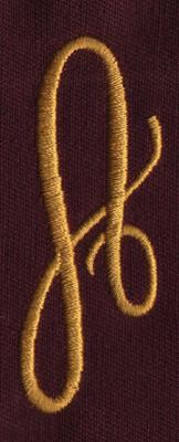 """Embroidery Design: FM Right A0.94"""" x 2.54"""""""