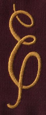 """Embroidery Design: FM Right E0.94"""" x 2.80"""""""