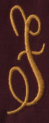 """Embroidery Design: FM Right F0.95"""" x 2.72"""""""