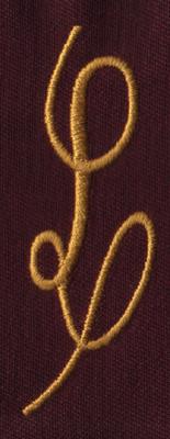 """Embroidery Design: FM Right L0.94"""" x 2.81"""""""