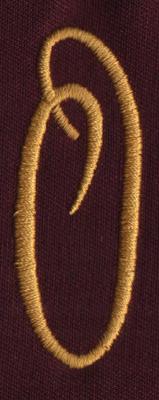 """Embroidery Design: FM Right O0.94"""" x 2.50"""""""