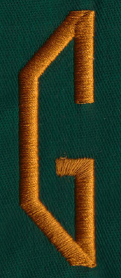 "Embroidery Design: OM Left G0.83"" x 2.69"""