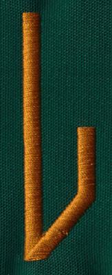 "Embroidery Design: OM Right L0.83"" x 2.69"""