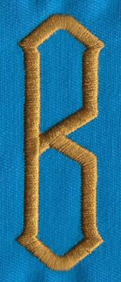 """Embroidery Design: PM Center B0.98"""" x 2.74"""""""