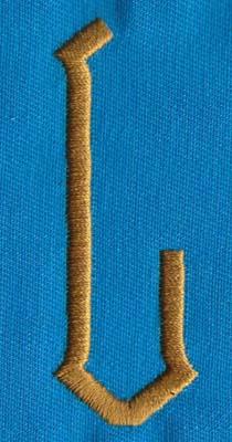 """Embroidery Design: PM Center L0.98"""" x 2.65"""""""