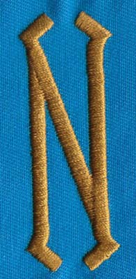"""Embroidery Design: PM Center N0.98"""" x 2.55"""""""