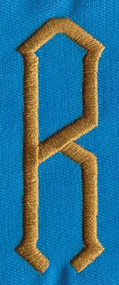 """Embroidery Design: PM Center R0.98"""" x 2.65"""""""