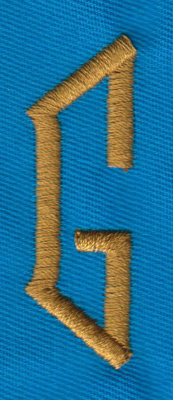 "Embroidery Design: PM Left G0.66"" x 1.99"""