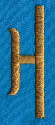 "Embroidery Design: PM Left H0.65"" x 1.87"""