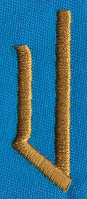 "Embroidery Design: PM Left U0.65"" x 1.92"""