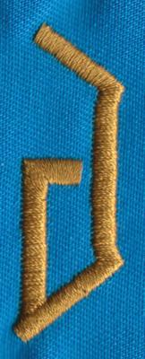 """Embroidery Design: PM Right J0.69"""" x 1.93"""""""
