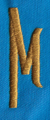 "Embroidery Design: PM Right M0.66"" x 1.86"""