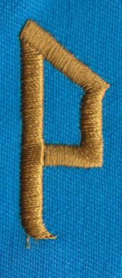 """Embroidery Design: PM Right P0.66"""" x 1.54"""""""