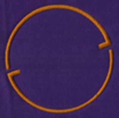 "Embroidery Design: SM Accent 13.46"" x 3.46"""