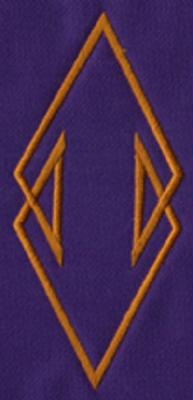 "Embroidery Design: SM Accent 132.27"" x 4.97"""