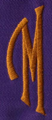 "Embroidery Design: SM Left M0.95"" x 2.61"""